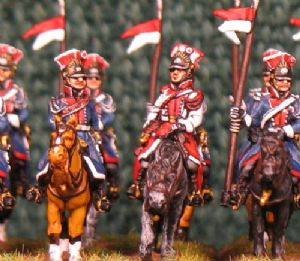 15mm, Napoleonic Polish Lancers of the Guard AB 12 fig